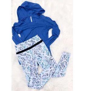 Fabletics Small Bundle Hooded Lons Sleeve Leggings